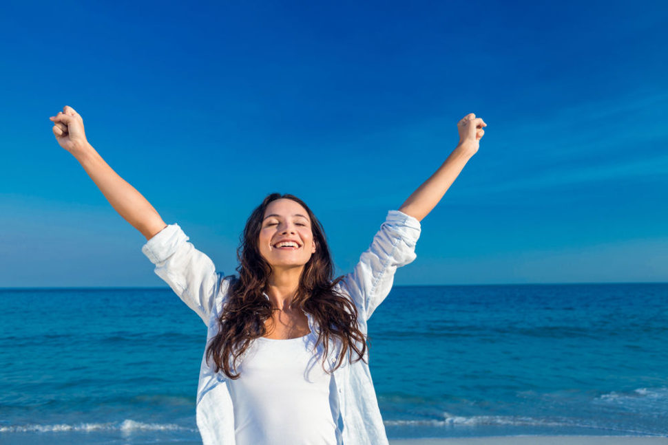 žena radost